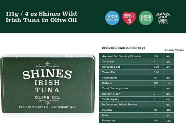Shines Tuna Olive Oil Details
