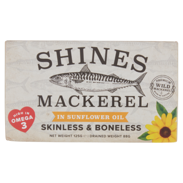 Shines Mackerel in Sunflower Oil